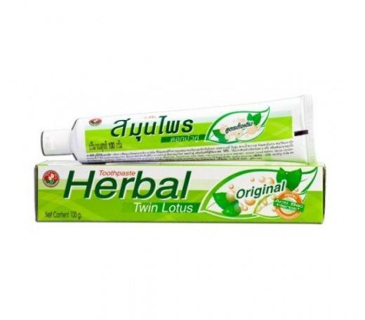 Зубная паста Twin Lotus Herbal Original 100г