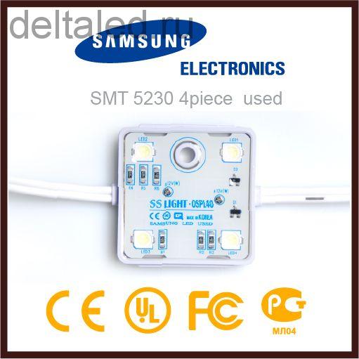 Модуль SS-Light на светодиодах Samsung 4 led 0.96 Вт водозащищенный