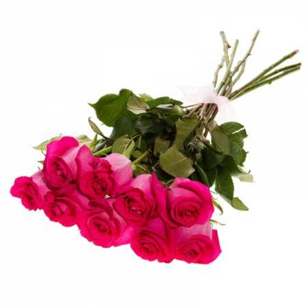 Букет из 9 розовых роз № 5001