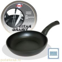 Сковорода TVS Titan Granit INDUCTION 26см с титано-керамическим покрытием, Италия IT-1126 (код 111)