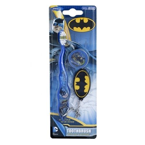 Зубная щетка Batman с колпачком и брелоком 3+