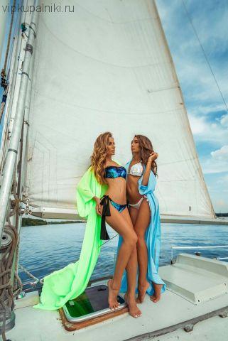 f7da961b5cca3 Сине-зеленый купальник-бандо с пайетками хамелеон: купальник с ...