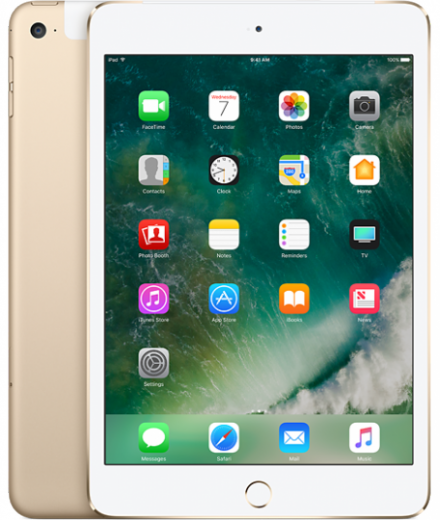 Apple iPad mini 4 Wi-Fi Cellular 128 GB Gold