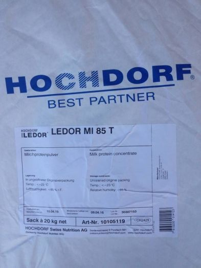 Казеин Hochdorf Ledor MI 85 концентрат молочного белка 85% - 1 кг