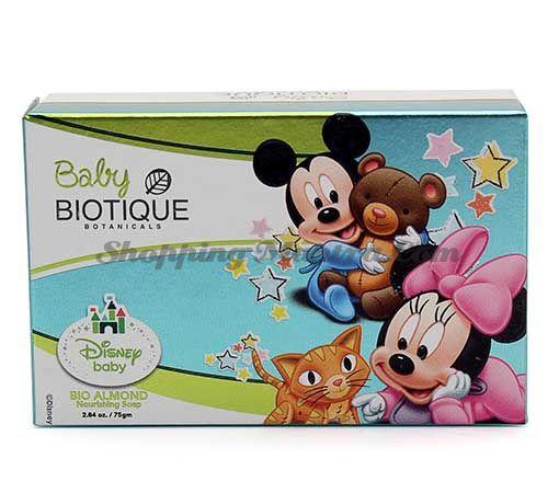 Детское питательное мыло с миндальным маслом Биотик Микки Маус и Минни   Biotique Mickey & Minnie Bio Almond Nourishing Baby Soap