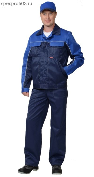 "Костюм ""АВТОМАСТЕР"": куртка, п/комб. синий с васил"