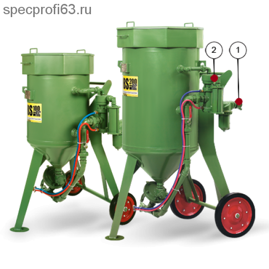 Аппарат пескоструйный CONTRACOR DВS-100 (100кг)
