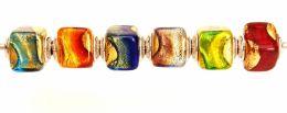 Бусины -цилиндры Caravaggio муранское стекло