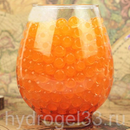 Гидрогель аквагрунт 1 см оранжевый (2000 шт)