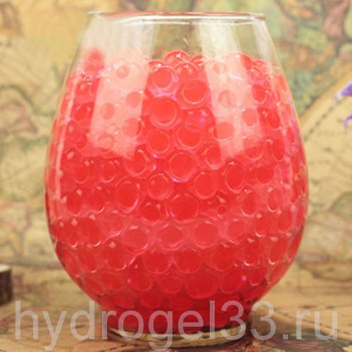 Гидрогель аквагрунт 1 см красный (2000 шт)