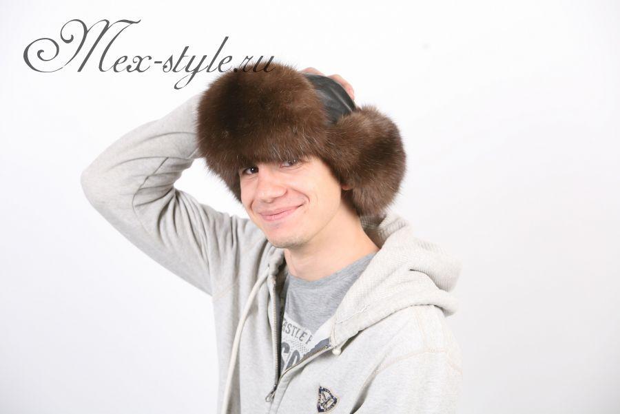 Мужская шапка из меха соболя
