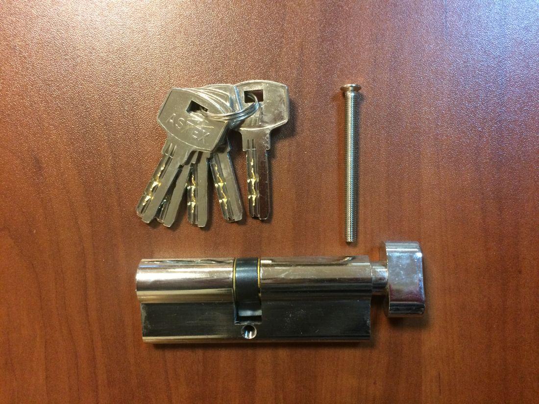 Профильный цилиндр (вкладыш замка) 35/45, 40/40, 40/45, 45/45 ключ/вертушка (завертка)