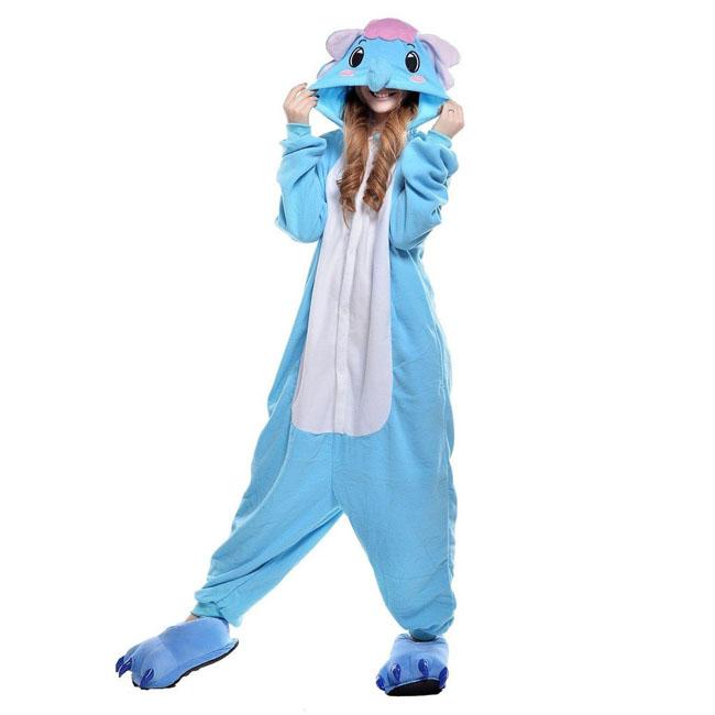 Пижама Кигуруми Слон Голубой Премиум