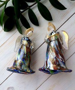 Фигурка Ангел  золотой  малый   муранское стекло