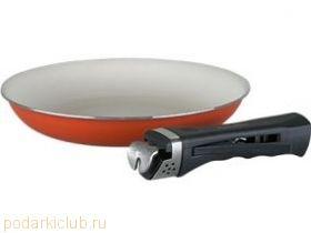 Сковорода со съем.ручкой. с керам. покрытием Pomi d'Oro  F2421 Terracotta  Ø 24 см (код 110)