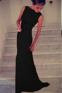 Черное элегантное макси платье