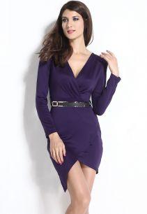 Мини платье с длинными рукавами