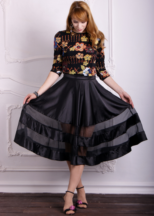 Черная юбка Агата