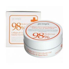 Petitfee Collagen Co Q10 Hydro Gel Eye Patch 60шт - Гидрогелевые патчи для кожи вокруг глаз с коллагеном и коэнзимом Q10
