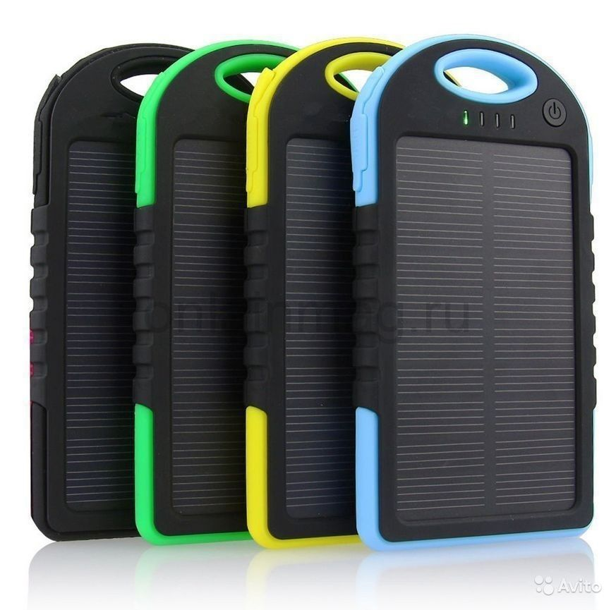 Внешний аккумулятор на солнечных батареях 5000mAh Power Bank