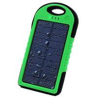 Внешний аккумулятор на солнечных батареях Solar Сharger 5000mAh зелёный