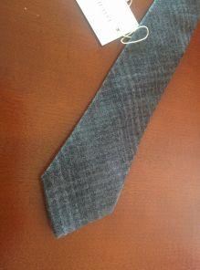 Узкий шотландский твидовый галстук 100% шерсть , расцветка Кинтайл Грей SLIM KINTAIL GREY