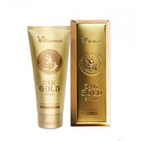 ELIZAVECCA 24K Gold Snail Cleansing Foam 180ml - Пенка для умывания с золотом и муцином улитки