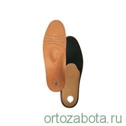 Стельки ортопедические с каплевидным пяточным амортизатором, покрытие - кожа Артикул: СТ-104