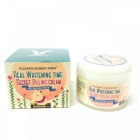 Elizavecca Real Whitening Time Secret Pilling Cream 100ml - Осветляющий крем с эффектом пилинга