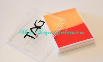 Аквагрим TAG 50гр Сплит-Кейк желтый/оранжевый