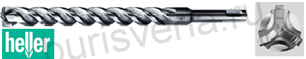 Бур по железобетону Heller Trijet, SDS-plus, 6х250х310мм