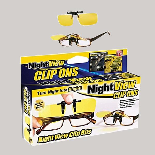 Антибликовые очки для автолюбителей Night View Clip Ons