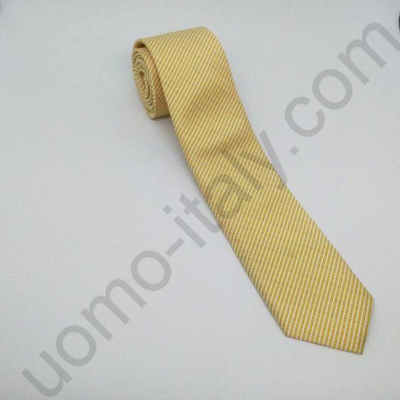 галстук бежевый в рубчик