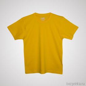 Детская желтая футболка без рисунка MODERN