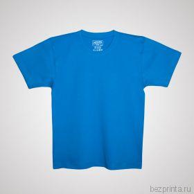 Детская голубая футболка без рисунка MODERN