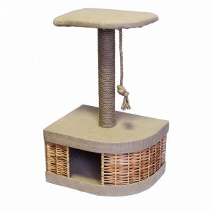 Домик-когтеточка Yami-Yami Лоза угловой из лозы для кошек 45.5х35.5х72.5см