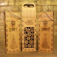 подарочная коробка для бутылки из дерева