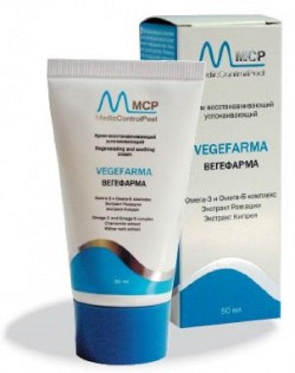 Крем увлажняющий противоспалительный для поврежденной кожи Вегефарма