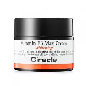 Ciracle Vitamin E5 Max Cream 50ml - осветляющий крем для лица с витамином E