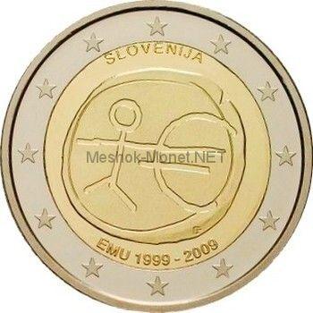 Словения 2 евро 2009, 10 лет экономическому и валютному союзу