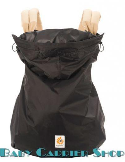 Демисезонная накидка от дождя для слинг-рюкзака на непогоду ERGO BABY «RAIN WATER RESISTANT WEATHER COVER Black» [Эрго Беби WCR001NL черный]