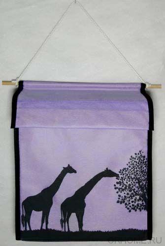 "Подвесная коробка  ""Жирафы"", 24х22х12 см"