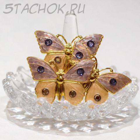 """Брошь """"Три прекрасных бабочки"""" (США)"""