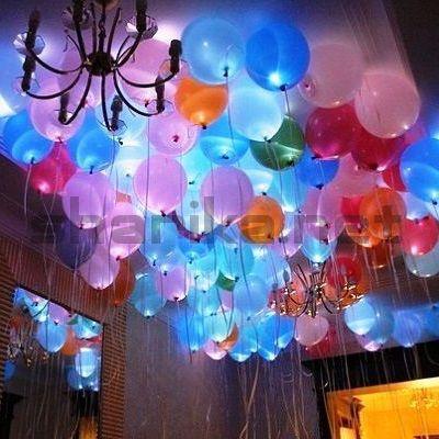 Облако из 10 светящихся шаров