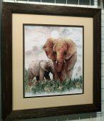 """Схема для вышивки крестом """"Слоны"""". Отшив."""