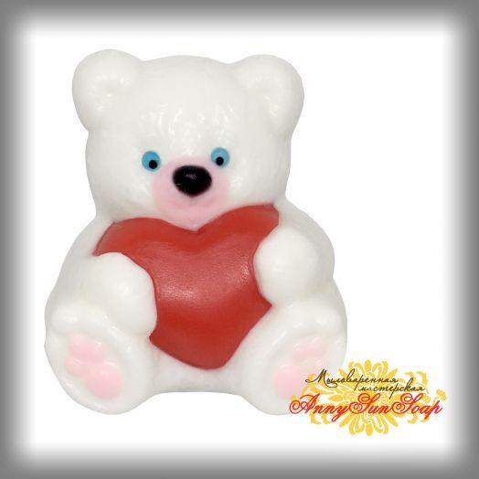 """Мыло """"Медвежонок с сердцем"""""""