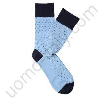 Носки Tezido голубые в мелкую точку