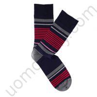 Носки Tezido синие с красной полоской