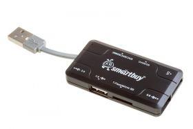USB - Xaб + Картридер Smartbuy Combo (SBRH-750-K) черный