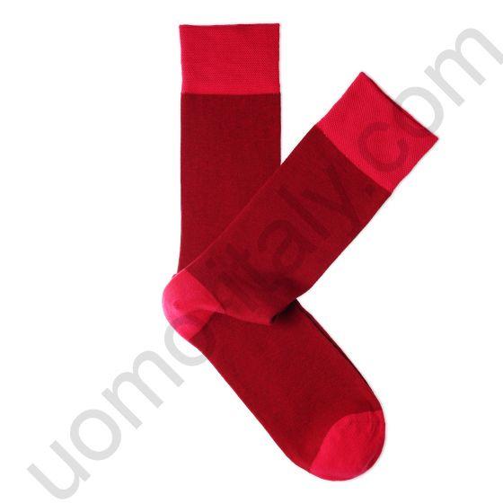 Носки Tezido красные с яркой пяткой , мыском и резинкой